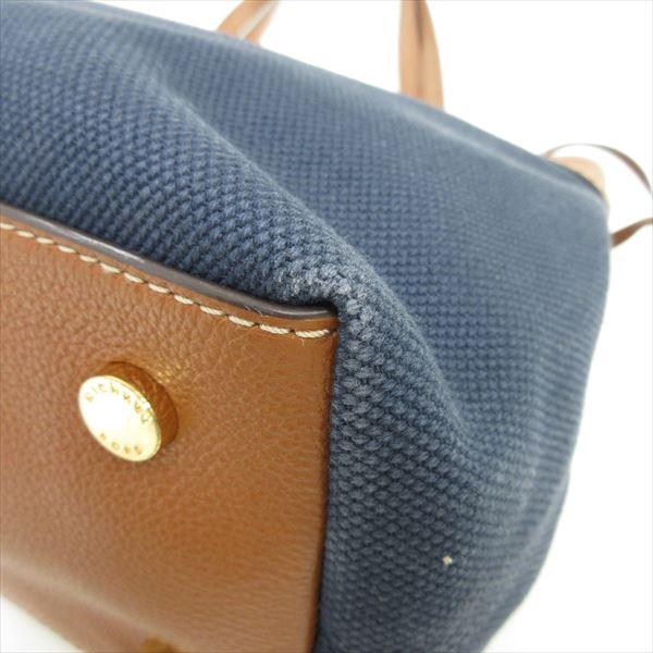 MICHAEL KORS (Michael Kors) tote bag marina large canvas Thoth 30H5GMAT6C dark blue navy X tea brown canvas X leather nb netshop