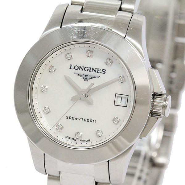 LONGINES(ロンジン) コンクエスト L3.158.4 11Pダイヤ ステンレススチール(SS) クォーツ レディース 【中古】 腕時計 netshop