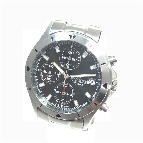 ALBA (Aruba) chronograph 7T92-0CV0 lindera board stainless steel (SS)  quartz men watch netshop