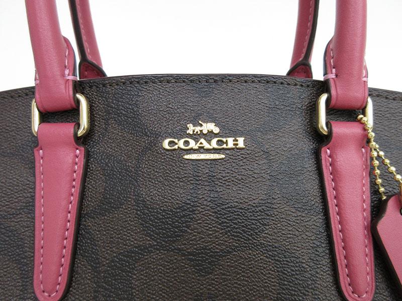 COACH コーチシグネチャー 2WAYバッグ ハンドバッグ ロングショルダーバッグ 斜め掛け F29434 ピンク PVC ブランドバッグnetshopdthQsrC