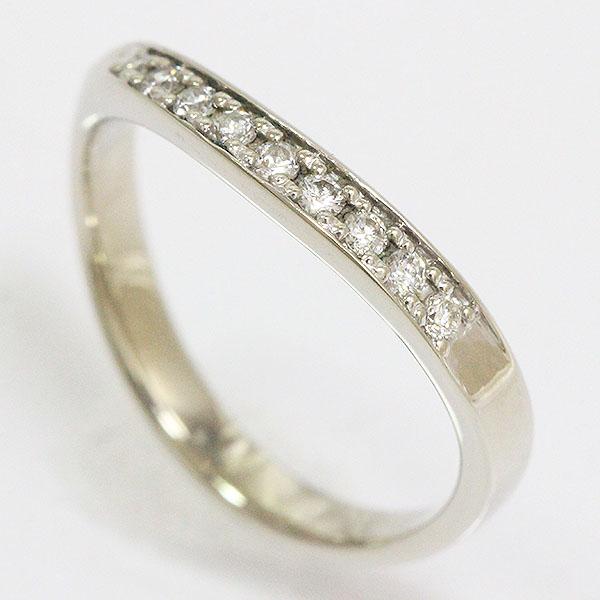 ダイヤモンド 計0.12ct リング 10号 18金ホワイトゴールド(K18WG)  【中古】ジュエリー 【新品仕上げ済み】 netshop