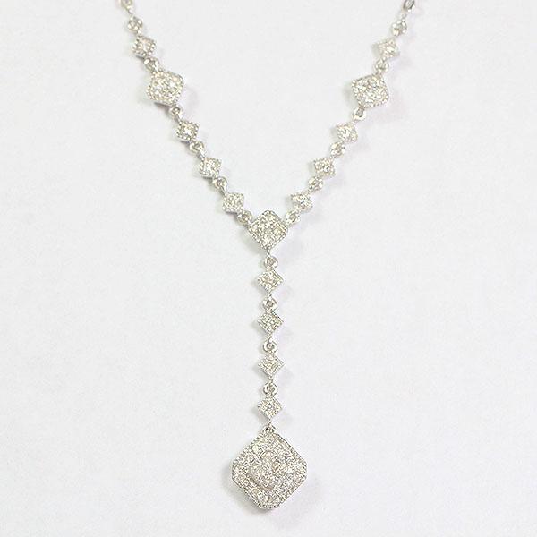 ネックレス ダイヤモンド 計0.33ct  18金ホワイトゴールド(K18WG)  【中古】 ジュエリー 【新品仕上げ済み】netshop【20191126】
