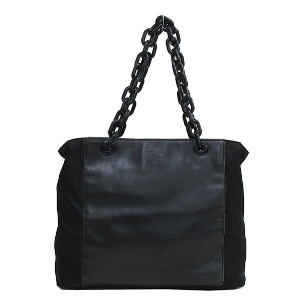 PRADA(プラダ) トートバッグ B7193 黒 ブラック ナイロン×レザー【ブランドバッグ】 【中古】 netshop