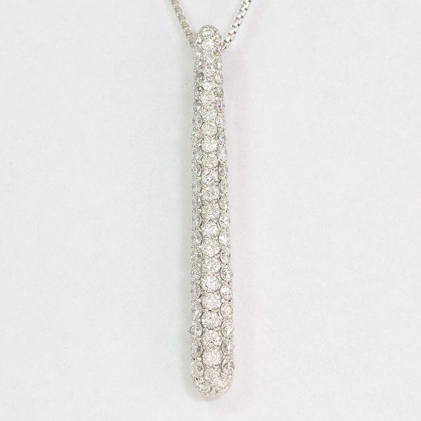 ネックレス ダイヤモンド 計1.0ct 18金ホワイトゴールド(K18WG)  【中古】 ジュエリー 【新品仕上げ済み】netshop【20191224】
