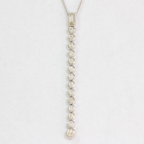 ネックレス ダイヤモンド 計1.00ct 18金ホワイトゴールド(K18WG)  【中古】 ジュエリー 【新品仕上げ済み】netshop【20191224】