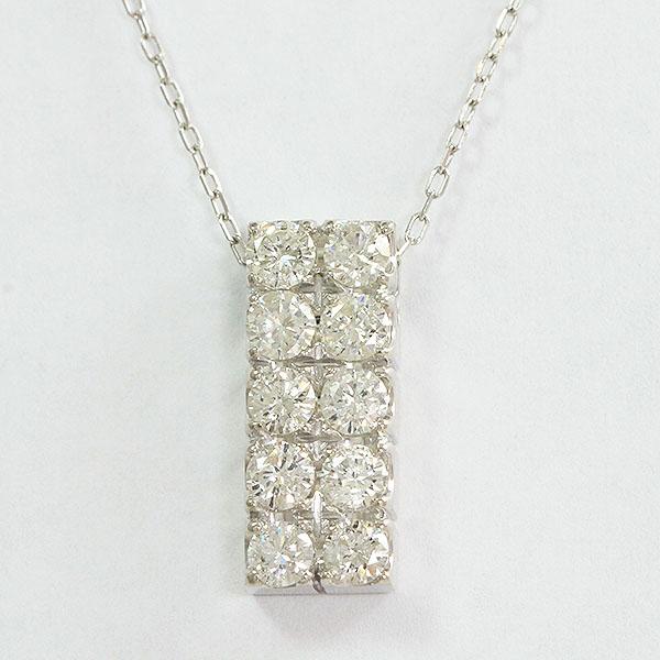 ダイヤモンド 計0.80ct ネックレス 18金ホワイトゴールド(K18WG)  【中古】 ジュエリー 【新品仕上げ済み】 netshop