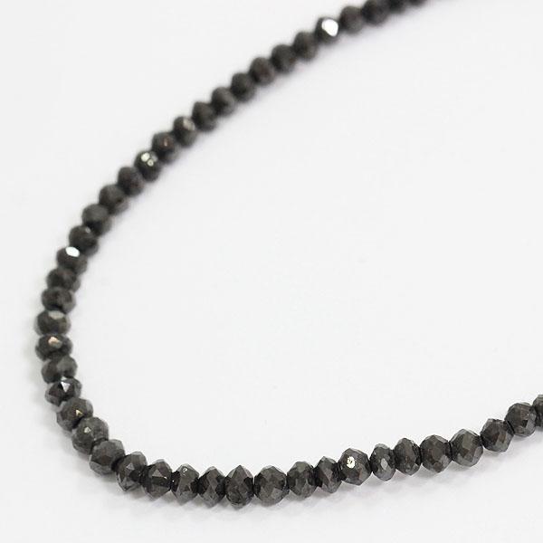ネックレス 連ネックレス ブラックダイヤモンド 18金ホワイトゴールド(K18WG)  【中古】 ジュエリー 【新品仕上げ済み】netshop
