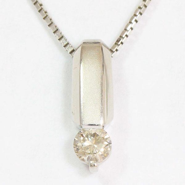 ダイヤモンド 0.15ct ネックレス 18金ホワイトゴールド(K18WG)  【中古】 ジュエリー 【新品仕上げ済み】 netshop【202025】