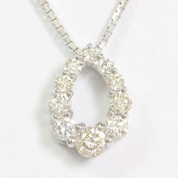 ダイヤモンド 計0.21ct ネックレス 18金ホワイトゴールド(K18WG)  【中古】 ジュエリー 【新品仕上げ済み】 netshop【2020214】