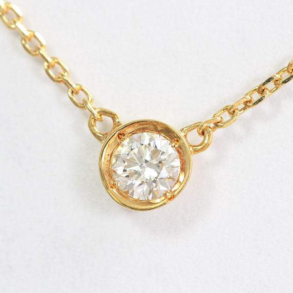 ダイヤモンド 0.10ct ネックレス 18金イエローゴールド(K18YG)  【中古】 ジュエリー 【新品仕上げ済み】 netshop
