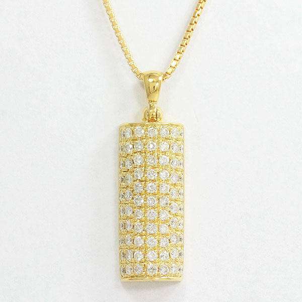 ネックレス ダイヤモンド 計1.53ct  18金イエローゴールド(K18YG)  【中古】 ジュエリー 【新品仕上げ済み】netshop