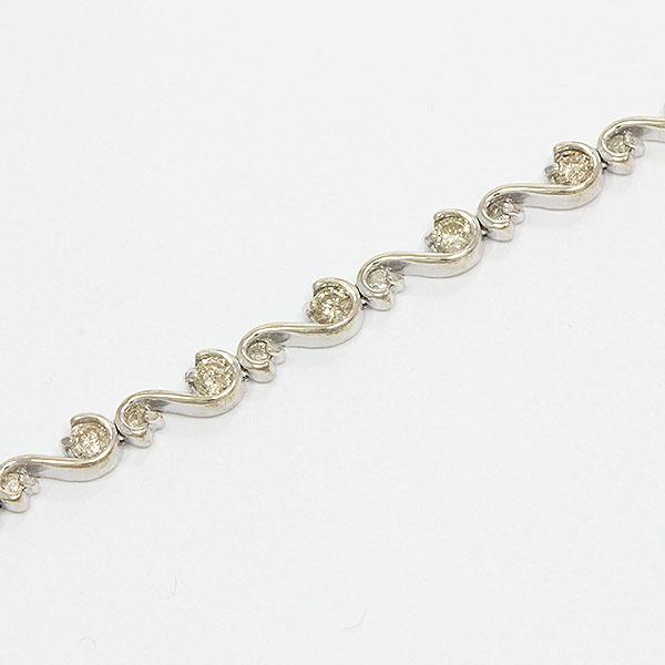 ブレスレット ダイヤモンド 計1.00ct 18金ホワイトゴールド(K18WG)  【中古】 ジュエリー 【新品仕上げ済み】netshop