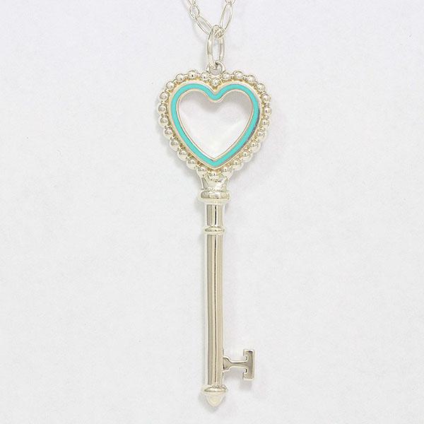 Tiffany&Co.(ティファニー) ネックレス ハート ビーズ 鍵  シルバー(SV925)  【中古】 アクセサリー netshop