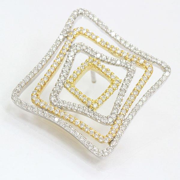 ブローチ ダイヤモンド 18金イエローゴールド(K18YG)/18金ホワイトゴールド(K18WG)  【中古】 ジュエリー 【新品仕上げ済み】netshop