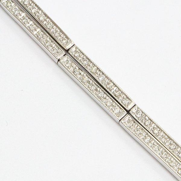 ダイヤモンド ブレスレット 18金ホワイトゴールド(K18WG)  【中古】 ジュエリー 【新品仕上げ済み】 netshop