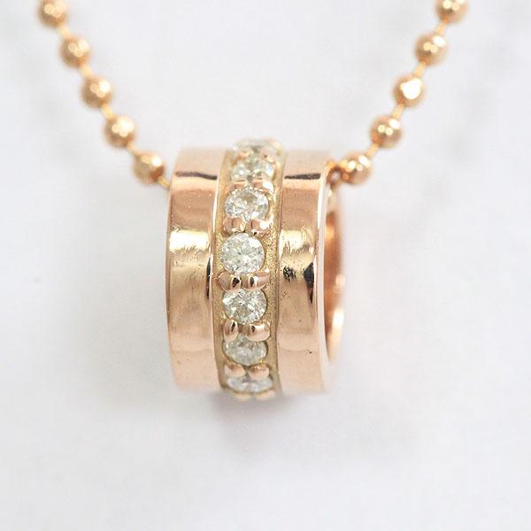 ネックレス ダイヤモンド 18金ピンクゴールド(K18PG)  【中古】 ジュエリー 【新品仕上げ済み】netshop