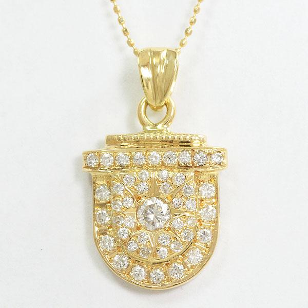 ダイヤモンド 計0.87ct ネックレス 18金イエローゴールド(K18YG)  【中古】 ジュエリー 【新品仕上げ済み】 netshop