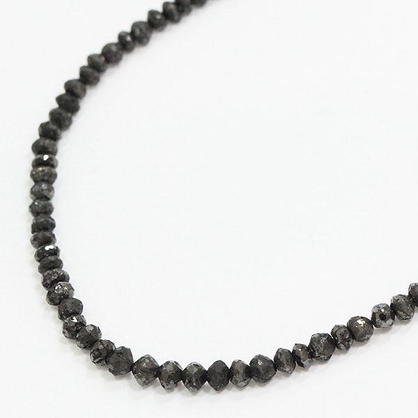 連ネックレス ブラックダイヤモンド 計20.0ct 18金ホワイトゴールド(K18WG)  【中古】 ジュエリー 【新品仕上げ済み】netshop【2020422】