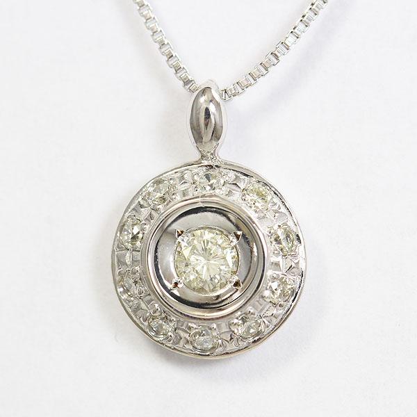 ダイヤモンド 計0.33ct ネックレス 18金ホワイトゴールド(K18WG)  【中古】 ジュエリー 【新品仕上げ済み】 netshop