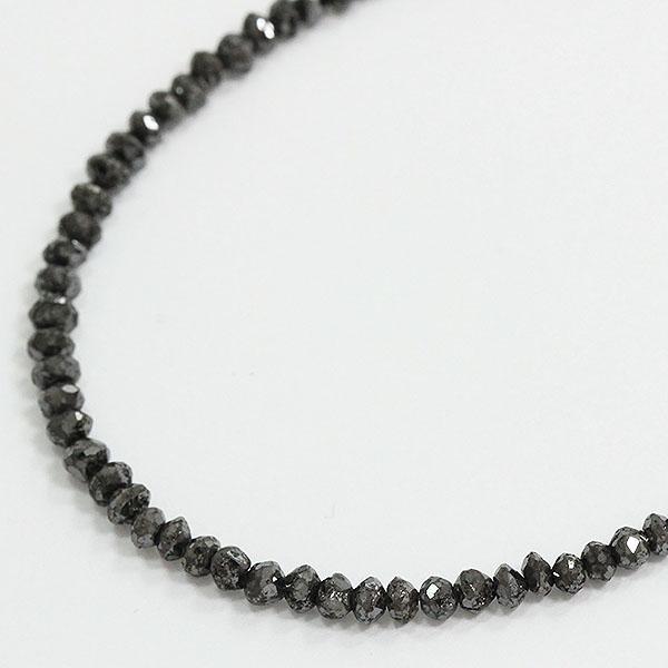 連ネックレス ブラックダイヤモンド 計20.00ct  18金ホワイトゴールド(K18WG)  【中古】 ジュエリー 【新品仕上げ済み】netshop【202056】