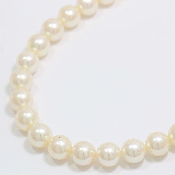 連ネックレス 真珠 パール 約8.0-8.5mm ネックレス シルバー(SILVER)  【中古】 ジュエリー 【新品仕上げ済み】 netshop