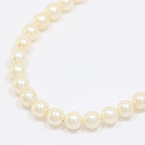 連ネックレス 真珠 パール 約7.0-7.5mm シルバー(SILVER)  【中古】 ジュエリー 【新品仕上げ済み】netshop