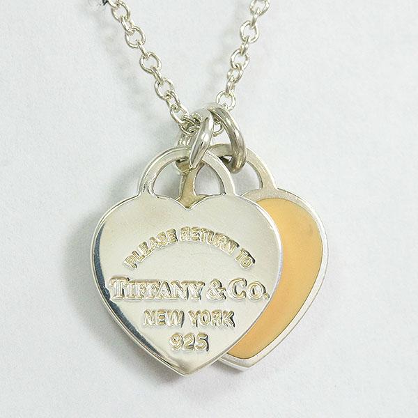 Tiffany&Co.(ティファニー) リターントゥ ハート ネックレス ミニダブル  シルバー(SV925)  【中古】 アクセサリー netshop【2020527】