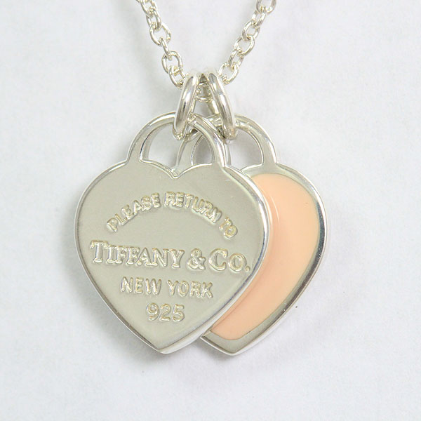 Tiffany&Co.(ティファニー) リターントゥ ミニダブル ネックレス ピンク  シルバー(SV925)  【中古】 アクセサリー netshop