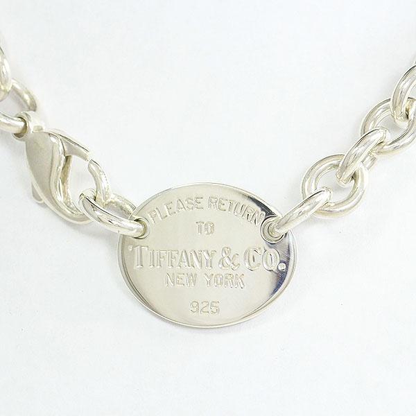 Tiffany&Co.(ティファニー) リターントゥ オーバル チョーカー ネックレス  シルバー(SV925)  【中古】 アクセサリー netshop