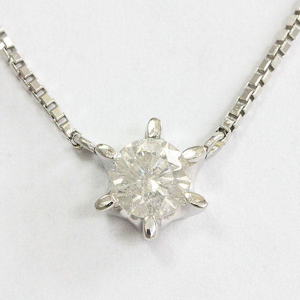 ダイヤモンド 0.36ct ネックレス プラチナ(Pt850/Pt900)  【中古】 ジュエリー 【新品仕上げ済み】 netshop