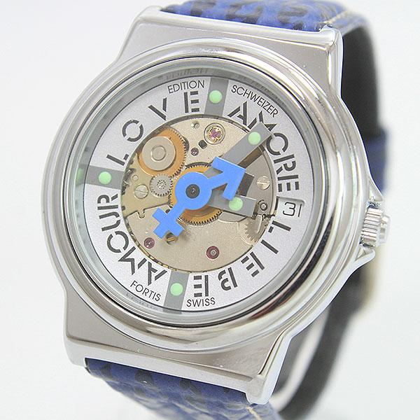 FORTIS 国内在庫 フォルティス アムール 裏スケ SS セール商品 オートマティック 腕時計 netshop 中古 自動巻き メンズ