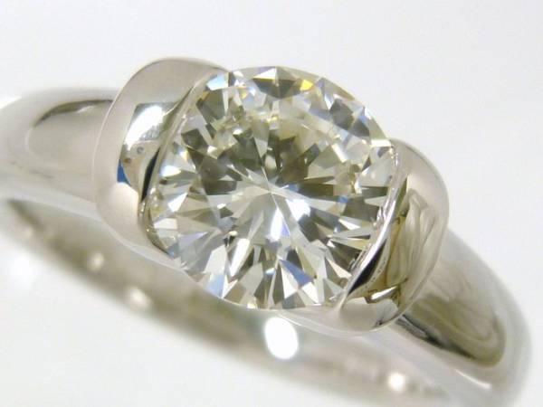『ダイヤモンド 1.01ct H SI1 VG』Pt900リング【鑑定書付き】