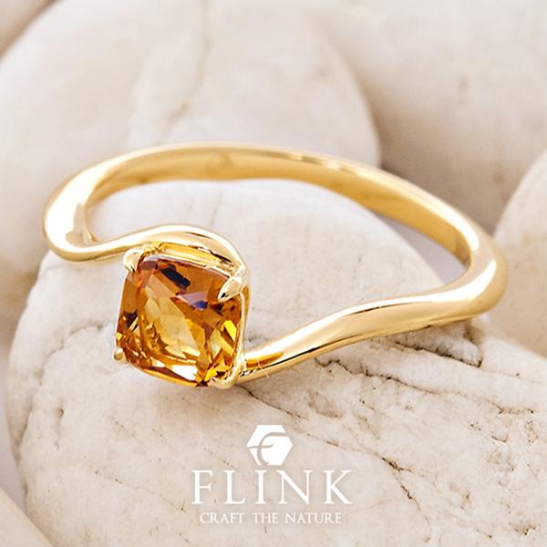 K22リング【22金 指輪】【シトリン】【天然石】ピンクゴールドorイエローゴールド【2タイプ】FLINK フリンク【送料無料】デート ギフト プレゼント 誕生日