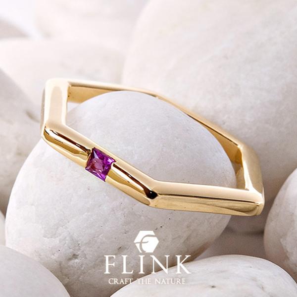 K22リング【22金 指輪】【ルビー】【天然石】ピンクゴールドorイエローゴールド【2タイプ】FLINK フリンク【送料無料】