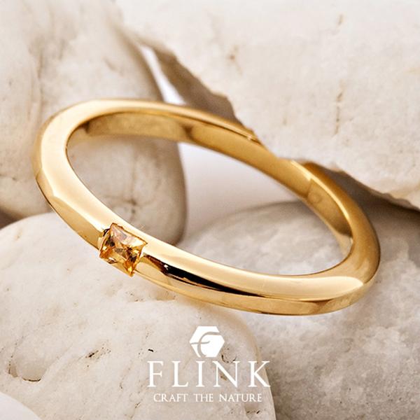 22金リング【イエローサファイア】【天然石】K22(ピンクゴールド、イエローゴールド)【2タイプ】FLINK フリンク【送料無料】デート ギフト プレゼント 誕生日