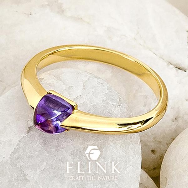 22金ピンキーリング【アメジスト】K22(ピンクゴールド、イエローゴールド)【2タイプ】レディース【小指 指輪】FLINK フリンク【送料無料】デート プレゼント 誕生日