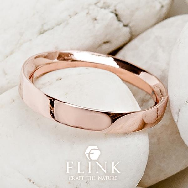 22金リング【フラット】K22(ピンクゴールド、イエローゴールド)【2タイプ】レディース【指輪】FLINK フリンク【送料無料】デート プレゼント 誕生日