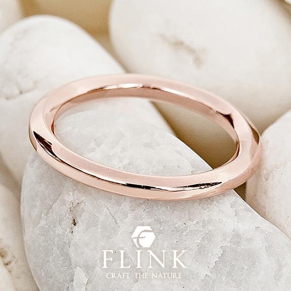 22金ピンキーリング【シンプル】K22(ピンクゴールド、イエローゴールド)【2タイプ】レディース【小指 指輪】FLINK フリンク【送料無料】デート プレゼント 誕生日