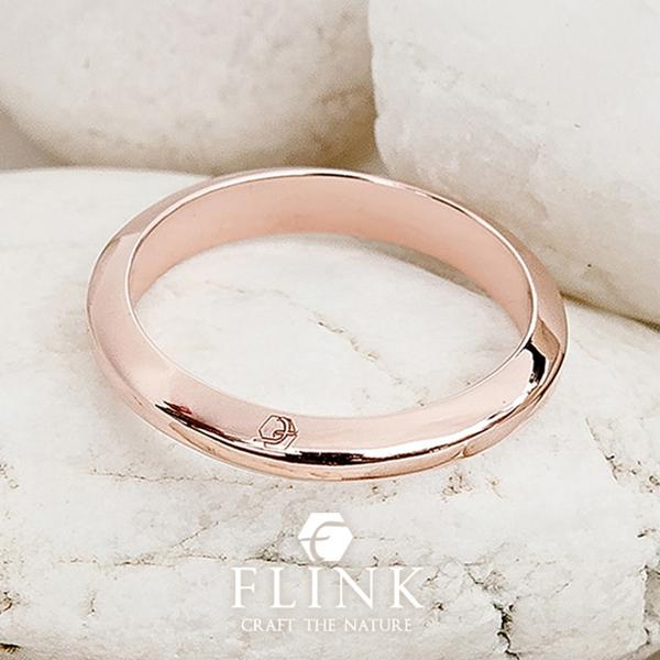 22金ピンキーリング【フロントロゴ】K22(ピンクゴールド、イエローゴールド)【2タイプ】レディース【小指 指輪】FLINK フリンクデート プレゼント 誕生日