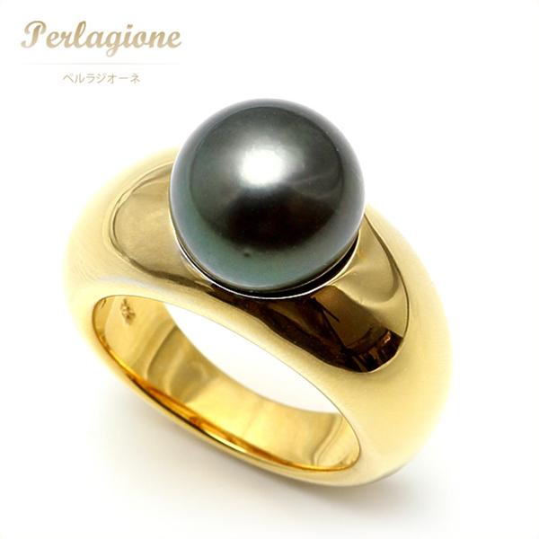Perlagione ペルラジオーネ【送料無料】黒蝶パール【パール 真珠】SV【シルバー925 ゴールド】【リング 指輪】