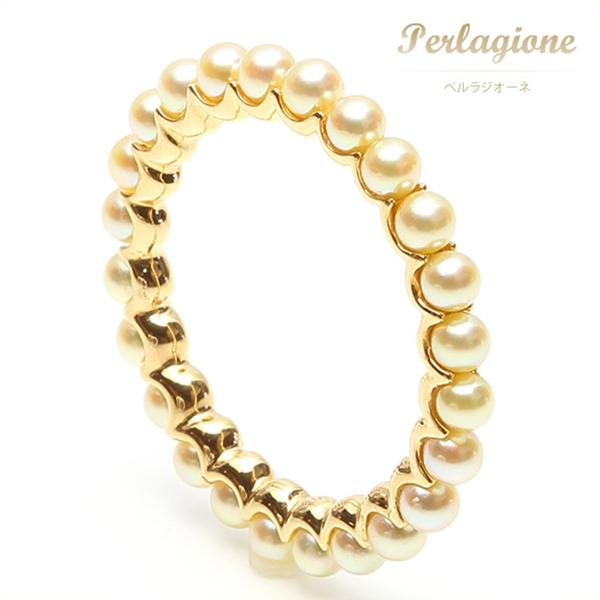 Perlagione ペルラジオーネ【送料無料】アコヤパール【パール 真珠】K18YG【イエローゴールド】【リング 指輪】エタニティリング
