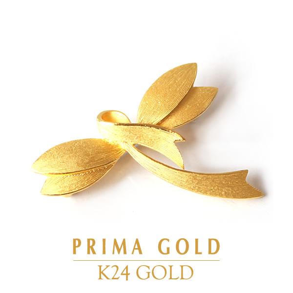 PRIMAGOLD プリマゴールド【送料無料】BROOCH【純金 ブローチ リボン】K24 24金 ジュエリー【女性用 レディース】24Kピュアゴールド【旅行・デート】