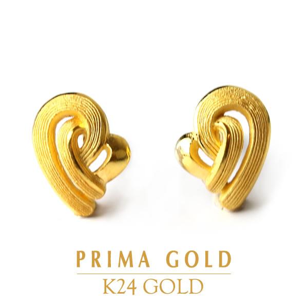 純金ピアス【PRIMAGOLD】K24 24金 純金 イエローゴールド【女性用 レディース】イヤリング変更可プリマゴールド【送料無料】