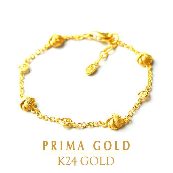 24金 K24 GOLD ジュエリー・アクセサリー【ブレスレット】【レディース】RIBON (リボン) 【旅行・デート】PRIMAGOLD プリマゴールド【送料無料】