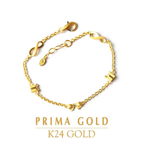 fc6cf698d91ea ●Ribbon gift boxes Infinity ● K24 bracelet ● PRIMAGOLD prima ballerina gold  ● 24k 24-karat gold pure gold gold jewelry