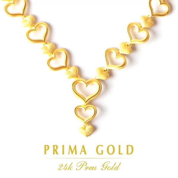 PRIMAGOLD プリマゴールド【送料無料】ETERNAL LOVE(エターナル・ラブ)【純金 ネックレス】K24 24金 ジュエリー【女性用 レディース】24Kピュアゴールド【ハイコレクション】【ギフト・贈り物】