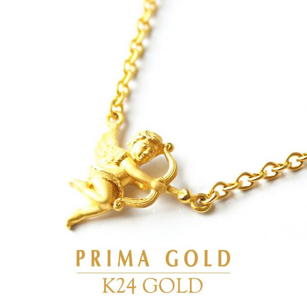 24金 K24 GOLD ジュエリー・アクセサリー【ネックレス】【レディース】ANGEL(エンジェル)【天使】【ギフト・お祝い・贈り物】PRIMAGOLD プリマゴールド【送料無料】