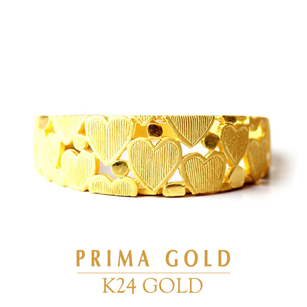 PRIMAGOLD プリマゴールド【送料無料】HEART (ハート)【純金 指輪 リング】24金 純金 ゴールド【女性用 レディース】ピュアゴールド ジュエリー【旅行・デート】