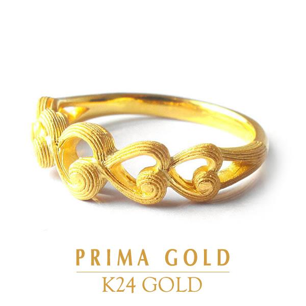 純金 指輪 永遠 モチーフ リング レディース 女性 イエローゴールド ギフト プレゼント 誕生日 贈物 24金 ジュエリー アクセサリー ブランド 地金 品質保証 人気 プリマゴールド PRIMAGOLD K24 送料無料