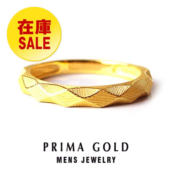 【在庫処分セール】【10%OFF】純金 24K 指輪 リング ダイヤカット スタッズ メンズ 男性 イエローゴールド プレゼント 誕生日 記念日 贈物 24金 ジュエリー アクセサリー ブランド プリマゴールド PRIMAGOLD K24 送料無料